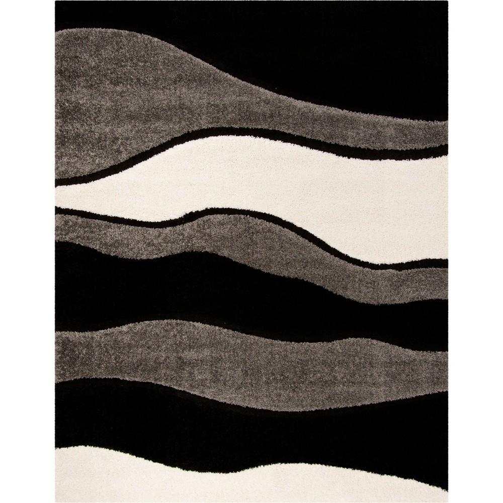 8'X10' Shapes Loomed Area Rug Gray/Black - Safavieh