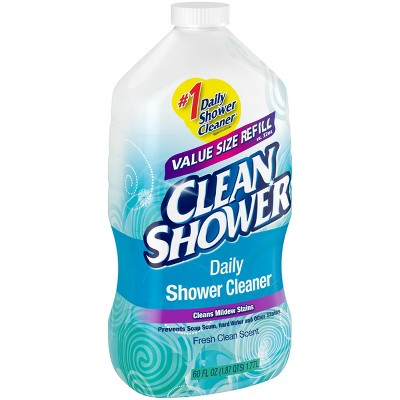 Clean Shower Daily Shower Cleaner Refill Fresh Clean Scent 60 Oz : Target