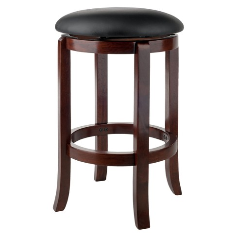 24 Walcott Swivel Bar Stools Walnut Winsome Target