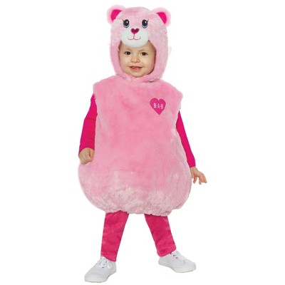 Toddler Build-A-Bear Pink Cuddles Teddy Belly Halloween Costume
