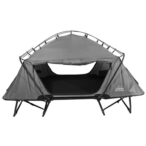 Kamp-Rite 2 Person Folding Off The Ground Camping Bed Double Tent Cot, Gray - image 1 of 6