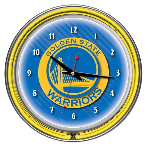 Golden State Warriors Team Logo Wall Clock - image 1 of 1