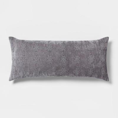 Chenille Oversized Lumbar Pillow Pewter Moon - Threshold™