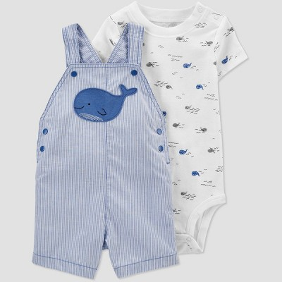 Baby Boys' Whale Top & Bottom Set - Just One You® made by carter's Blue 12M