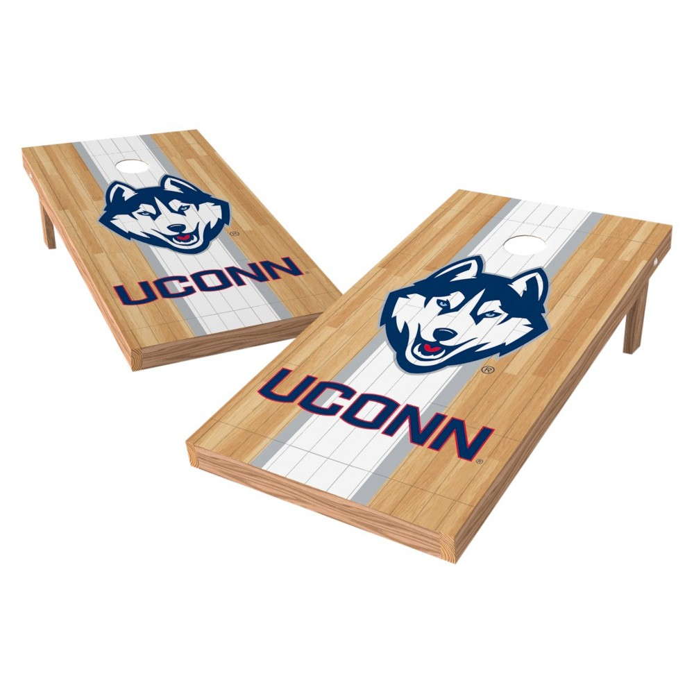 NCAA Wild Sports2' x 4' Heritage Design Authentic Cornhole Set UConn Huskies