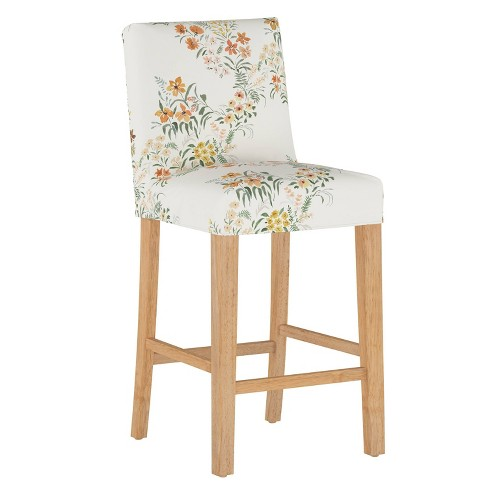 Slipcover Bar Stool Lucinda Floral Harvest - Cloth & Company - image 1 of 4