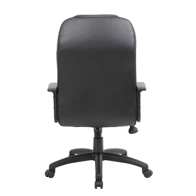 High Back Leather Plus Chair Black - Boss Office Products : Target