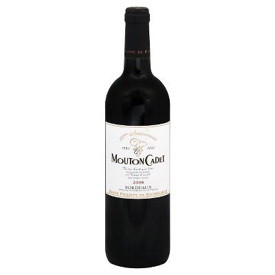 Mouton Cadet Red Bordeaux Wine - 750ml Bottle