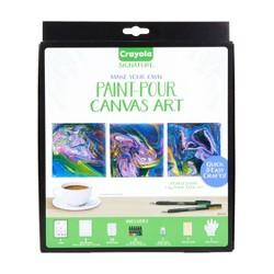 Crayola Signature Make Your Own Paint-Pour Canvas Art