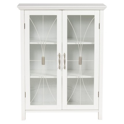 Fashions Symphony 2 Door Floor Cabinet White - Elegant Home Fashions