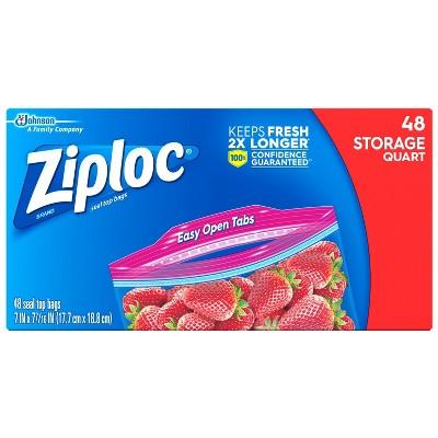 Ziploc Storage Quart Bags