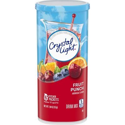 Crystal Light Fruit Punch Drink Mix - 6pk/2.04oz