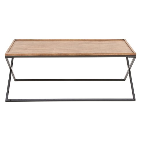 Metal and Wood Console Table Silver - Olivia & May - image 1 of 4