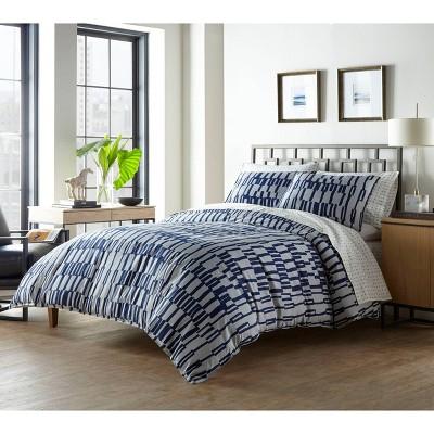 King Bisman Comforter Set Navy - City Scene