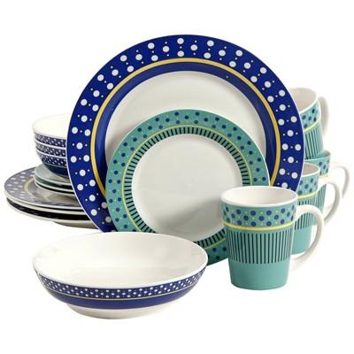 Gibson Home 16pc Stoneware Lockhart Dinnerware Set