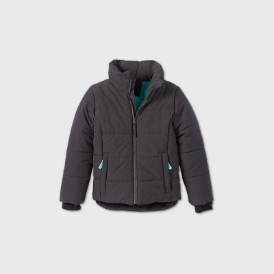 Girls' Puffer Jacket - All in Motion™ Gray