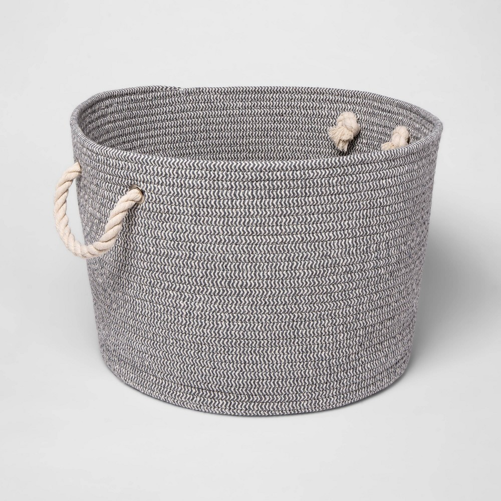 Large Round Coiled Rope Basket Cloud Island 8482