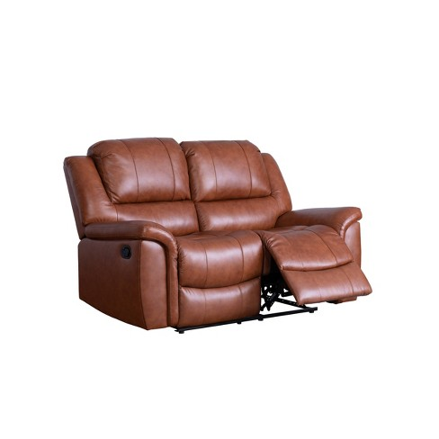 Magnificent Joel Top Grain Leather Reclining Loveseat Camel Abbyson Living Unemploymentrelief Wooden Chair Designs For Living Room Unemploymentrelieforg