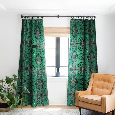 Sewzinski Boho Florals Single Panel Blackout Window Curtain - Society6