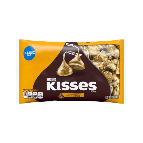 HERSHEY'S KISSES Milk Chocolates with Almonds - 11oz - image 1 of 5