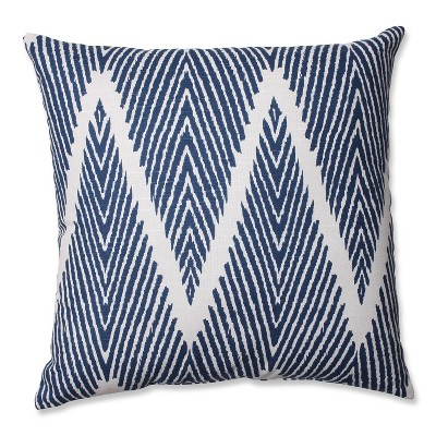 Navy Bali Throw Pillow 16.5 x16.5  - Pillow Perfect