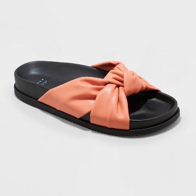 Women's Kaylin Knotted Slide Sandals - A New Day™
