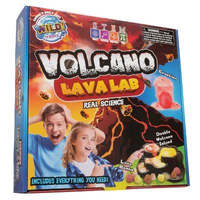WILD! Science Volcano Lava Lab - Science Kit for Kids - STEM - Erupting Volcano Experiment