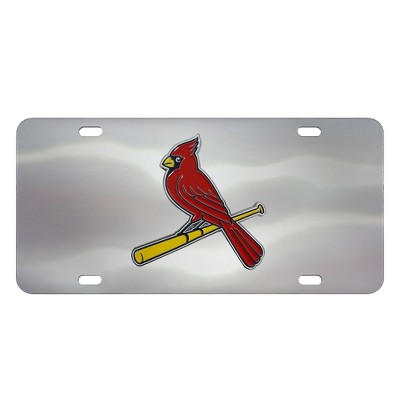 MLB St. Louis Cardinals Stainless Steel Metal License Plate