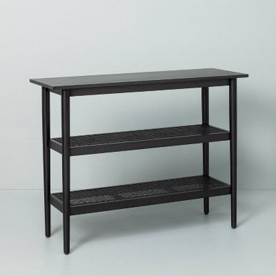Wood & Cane Console Table Black - Hearth & Hand™ with Magnolia