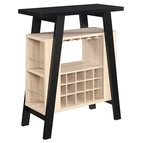 Newport Bar Console Black & Weathered White - Convenience Concepts - image 1 of 3