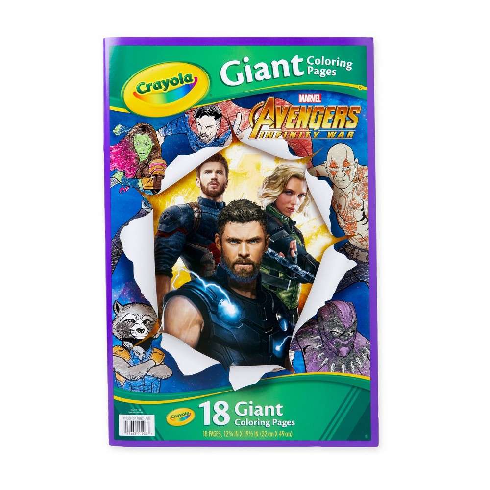 Crayola Avengers Giant Coloring Pages, White