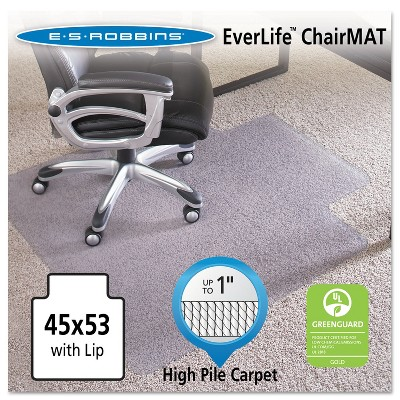 "3'9""x4'5"" Rectangle Solid Office Chair Mat Clear - ES Robbins"