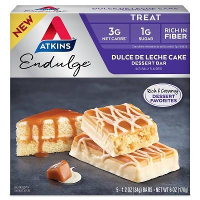 Atkins Endulge Dessert Bar - Dulce de Leche - 5ct