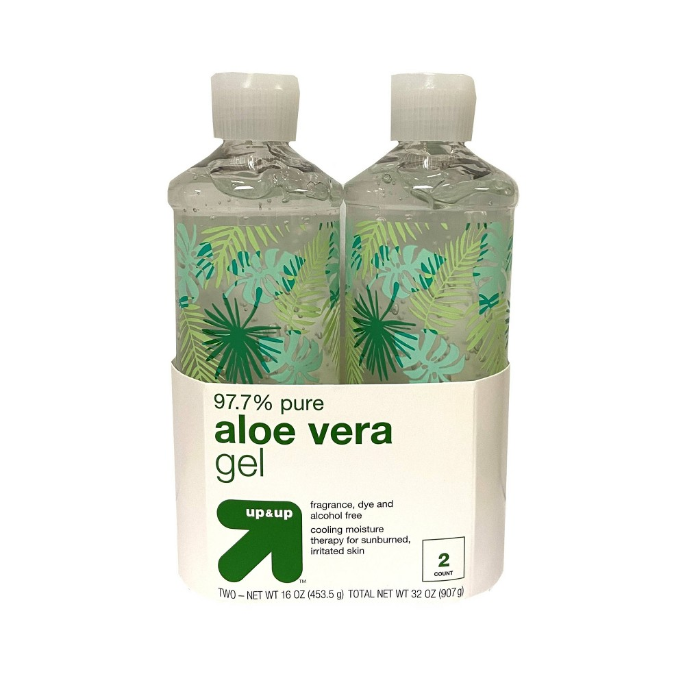 Image of Clear Aloe Vera Gel - 2ct/32oz - Up&Up