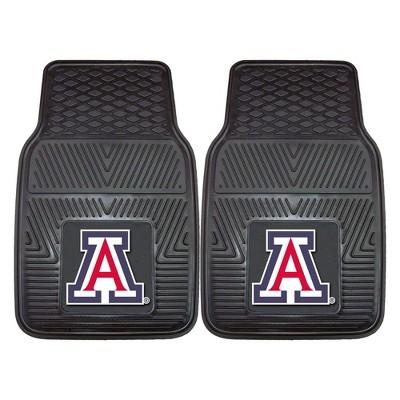 NCAA University of Arizona Vinyl Car Mat Set - 2pc