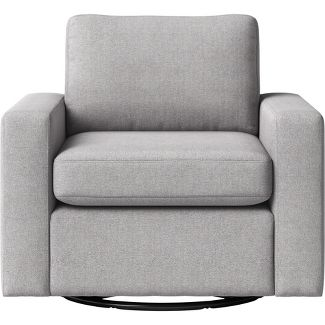Barnstable Pillow Arm Transitional Swivel Arm Chair Gray - Threshold™