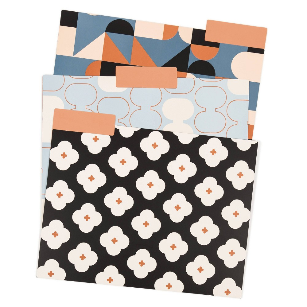 Image of 12ct UBrands Patterned File Folders - Abstract Terracotta