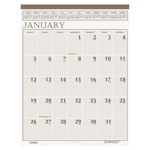House of Doolittle™ Recycled Large Print Monthly Wall Calendar Leatherette Binding 20 x 26 2018 - image 1 of 1
