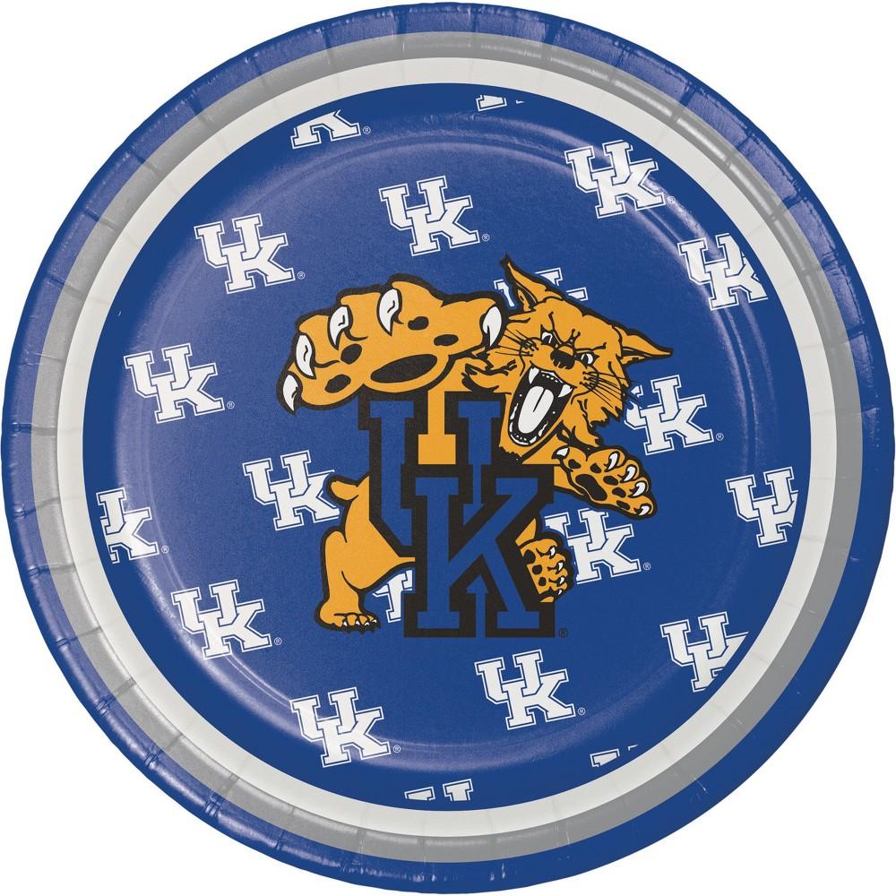 Image of 24ct Kentucky Wildcats Dessert Plates Blue