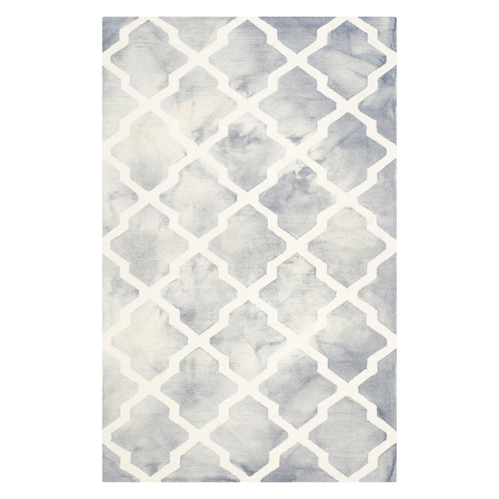4 X6 Quatrefoil Design Area Rug Gray Ivory Safavieh