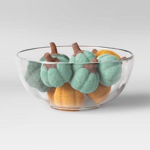 Felted Pumpkin Vase and Bowl Filler Green/Yellow - Opalhouse™ designed with Jungalow™ - image 1 of 4