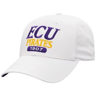 NCAA East Carolina Pirates Men's White Twill Structured Snapback Hat