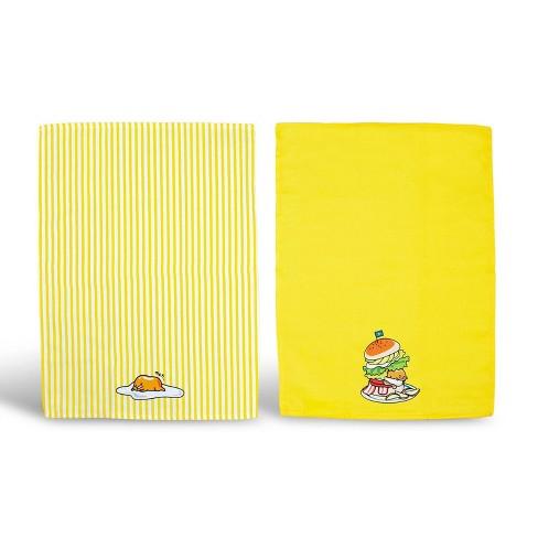 Se7en20 OFFICIAL Gudetama Lazy Egg Cute Dish Towels | Perfect Kitchen  Accents | Set of 2