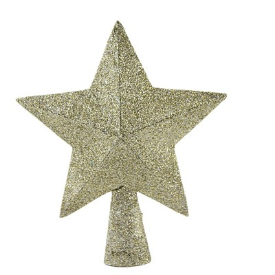 """Tree Topper Finial 6.0"""" Peaceful Star Tree Topper Glittered Paper Christmas  -  Tree Toppers"""