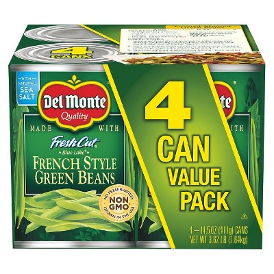 Del Monte French-Style Green Beans 4 Pk