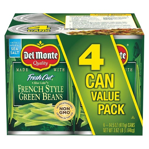 Del Monte French-Style Green Beans 4 pk - image 1 of 1