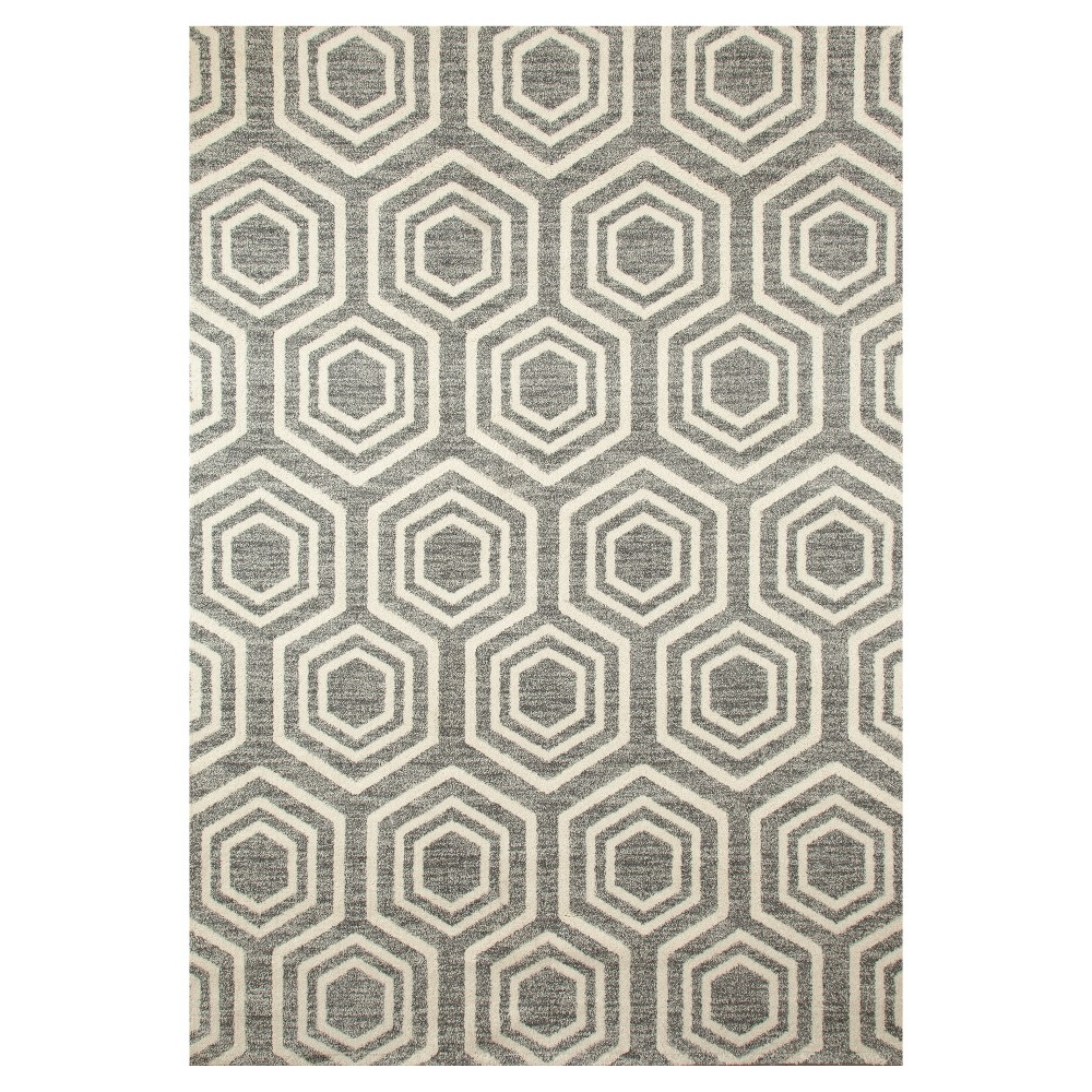 Image of Gray Abstract Woven Area Rug - (5'X8') - Art Carpet