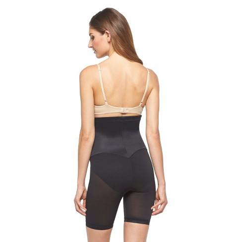 4181c14725 Maidenform® Flexees® Women s Easy-Up® Hi-Waist Thigh Slimmer 1455 Black - L    Target