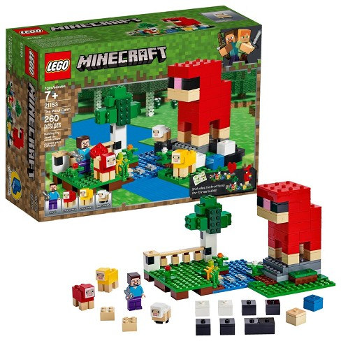 LEGO Minecraft The Wool Farm 21153 Building Set with Toy Sheep and Steve Minifigure 260pc - image 1 of 4