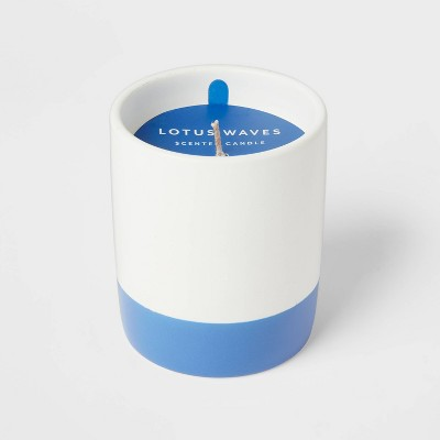 7oz Glass Jar Lotus Waves Candle - Room Essentials™